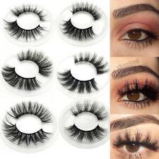 SKONHED 7 Styles 3D Faux Mink Hair False Eyelashes Cross Feathery Wispy Lashes~