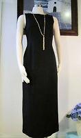 NWOT Laura Ashley Black Wool plus Lycra Dress Size US 6 UK 10 EUR 36