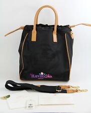Authentic Tory Burch Black Small Perf Logo Drawstring Tote Bag (Pre-owned)