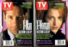 TV GUIDE 1998 - 2 COLLECTOR X-FILES COVERS - GILLIAN ANDERSON & DAVID DUCHOVNY