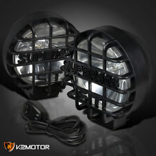 "Super 4X4 Offroad SUV RV Black Round 6"" Fog Light+Wiring+Bulbs+Switch"