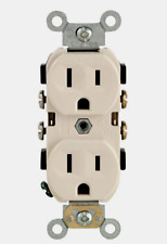 Leviton Light Almond Thermoplastic Indoor Grounded Outlet 15A-125V Cbr15-00I