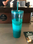 Starbucks Mexico 2021 Fall Teal Tie-Dye Wave 24 oz Venti Tumbler Cold Cup