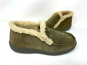 Clarks Men's Bennet Slip On Fur Lined Bootie Slippers Brown Size:8 140N tz
