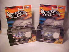 2 Hot Wheels Commemorative Edition w/ COIN - JEFF BURTON #99 & MARK MARTIN #6 -