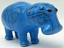 Metropolitan Museum of Art Mma William Blue Ceramic Hippo Hippopotamus Mascot