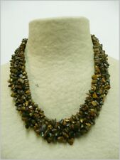 Ojo de Tigre collar de minerales, Tiger Eye necklace 111