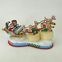 Danbury Mint The Raggedy Ann and Andy Christmas Tree Sleigh Sled Lighted