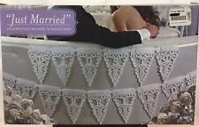 Just Married Garland Wedding Banner Car Bunting Venue Party Decor DIY New