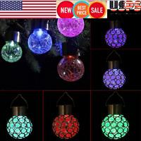 Waterproof Colorful Changing LED Solar Garden Hanging Light Lantern Ball