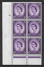 3d Wilding Green Phosphor cyl 41 No Dot perf type B(I/P) MOUNTED MINT in margin