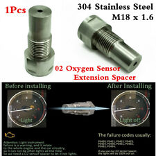 M18 x1.5 Stainless O2 Oxygen Spacer Sensor Extension For Remove CEL Fault Code