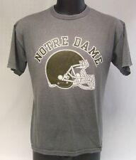 Vintage Notre Dame NCAA College Football Helmet 50/50 Blend Russell T-Shirt M
