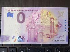 BILLET EURO SOUVENIR 2021-1 ALLEMAGNE NORDSEEHEILBAD WANGEROOGE