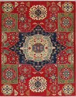 Kazak Oriental Area Rug Wool Hand-Knotted Geometric 5 x 7 NEW Carpet Pakistani