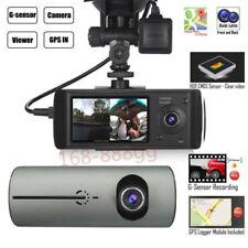 G-Sensor w/ Night Vision Dual Lens GPS Camera HD Car DVR Dash Cam Video Recorder