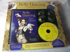 NEW Nefertiti Presents Belly Dancing Basics Illustrated CD Book Kit Brass Zills
