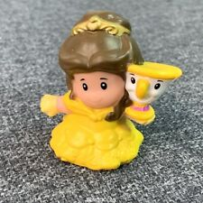 2.75'' Fisher Price Little People Disney Princess BELLE in yellow Castle Toy