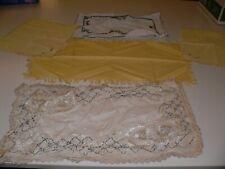 Lot Of 5 Vintage Linens Doilies Textiles