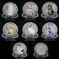 WR 5 Vatu Silbermünze/Medaille 2015 Vanuatu Katze Gedenkmünzen Set Sammlerstücke