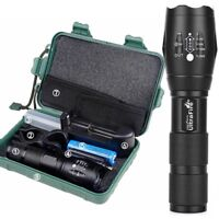 Camping Tactical G700 Flashlight T6 5Modes Zoom Torch + High 18650 Battery Box .