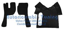 COPPIA TAPPETI + COPRICOFANO ECOPELLE NERO VOLVO FH DAL2002 AL2012 MANUAL 2