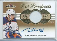 2013-14 Fleer Showcase Mark Arcobello Hot Prospects PRIME PATCH AUTO 154/375