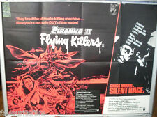 Cinema Poster: PIRANHA II FLYING KILLERS/SILENT RAGE 1982 (Double Bill Quad)