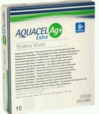 Aquacel AG+ Extra Silver Hydrofiber . Dressing 10cm x 10cm x10 l