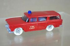 DINKY 257 NASH RAMBLER FIRE CHIEF CAR RED RESTORED mv