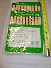 Set 20 Pcs Natural Bamboo Laundry Drying Peg Clothes-pin Socks Clip US seller