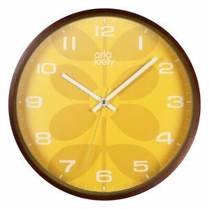 Orla Kiely Mustard Wall Clock