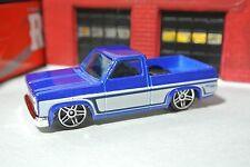 Hot Wheels '83 Chevy Silverado Pickup Truck - Blue w/ White - Loose - 1:64 1983