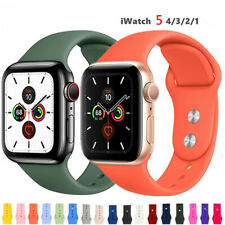 For Apple Watch Series 5 4 3 2 38 42mm 40 44mm Silicone Sports iWatch Band Strap