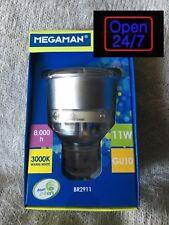GLOBE GU10 x 2 11w REFLECTOR ENERGY SAVING Megaman Globe 3000K** AWESOME!!