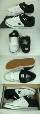 New Mens 13 DC Pure White Black Leather Skate Shoes $60