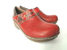 SPRING STEP Winsome EU 39 US 8.5M Red Slip on Closed Clog Comfort Shoes