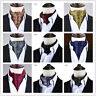 Men Silk  Dots Cravat Scarves Paisley Polka Ascot Wedding Party Self-tied Ties