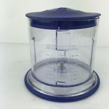 Ninja Chopper 2 Cup Plastic Bowl With Lid  Replacement Part Prep Blender Bowl
