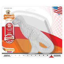Nylabone DuraChew Dental Dinosaur Chicken Flavor | Nylon Toy for Dogs