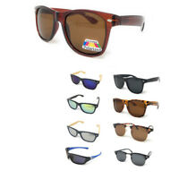 Classic Polarized Sunglasses Club Aviator Bamboo Sports Wrap Mirror Mens Womens