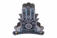 Pewter Plated Napkin Holder Best Gift Jerusalem Hamsa Kabbalah Protection