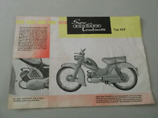 Zündapp Super Combinette Typ 429, Prospekt, 50er/Anfang 60er Jahre, Original !