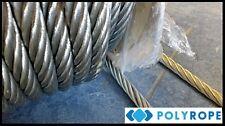 6mm Filo Di Acciaio Zincato Fune Verricello Cavo flessibile in metallo per metro di sicurezza