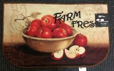 "PRINTED NYLON KITCHEN RUG (nonskid latex back) (18""x30"") FARM APPLES by Catalina"
