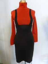 Red & Black Mod Jumper style Mini Dress Mock t-neck School Girl Lolita XS