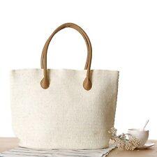 Women Beach Shoulder Hand Bag Straw Large Woven Handbag Casual Lady Tote Shopper