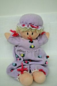 """Vintage Handmade Knitted Amigrumi Doll Toy Stuffed Soft 24-1/2"""" long"""