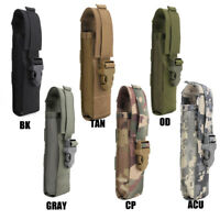 Tactical Nylon Molle Light Holster Flashlight Holder Case Army Flashlight Pouch