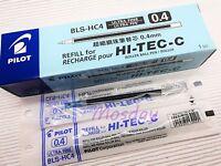 12 x Pilot Hi-Tec-C Roller Ball Pen Refills BLS-HC4 0.4mm Ultra Fine, BLUE